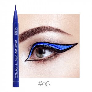 Eyeliner colorat Qibest Waterproof, Albastru #06