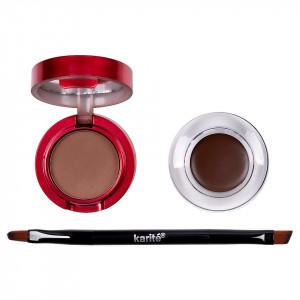 Eyeliner Crema Gel, Pudra Sprancene + Pensula Aplicare, Karite Christmas Edition, Brown