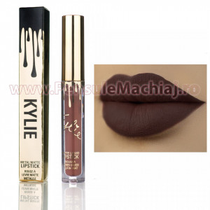 Ruj Lichid Kylie Gold Metal Matte True Brown k