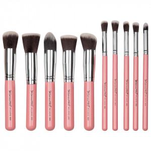 Set 10 Pensule Machiaj Profesionale SensoPRO Milano, Classy Pink + CADOU