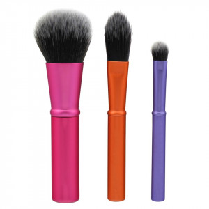 Set 3 pensule machiaj din par natural - Mini Brush Trio