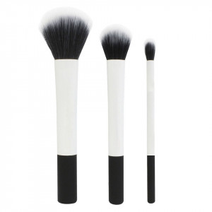 Set 3 pensule profesionale machiaj White Collection