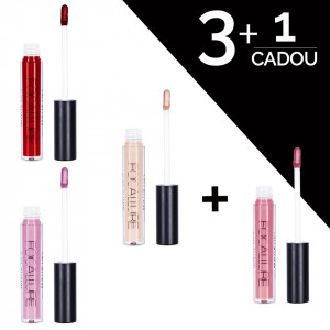 Set Rujuri Lichide mate Focallure - 3 + 1 CADOU