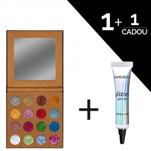Trusa glitter ochi UCANBE Starry Palette + CADOU Adeziv Glitter