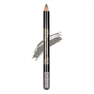 Creion Colorat Contur Ochi cu Sclipici, Ushas Glittery Silver #09