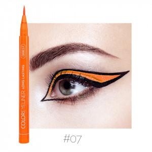 Eyeliner colorat Qibest Waterproof, Portocaliu #07