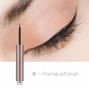 Eyeliner Lichid Dazzling Black Fine Hair Soft Brush