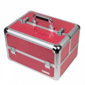Geanta Produse Cosmetice Fraulein38, Pink + CADOU Set 12 Pensule Machiaj