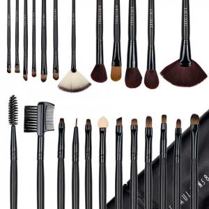 Set 24 pensule profesionale machiaj Fraulein38 Studio Black + Borseta Cadou