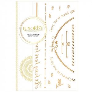 Tatuaj Temporar LUXORISE Henna Temptation Gold Edition E003