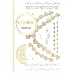Tatuaj Temporar LUXORISE Henna Temptation Gold Edition E018