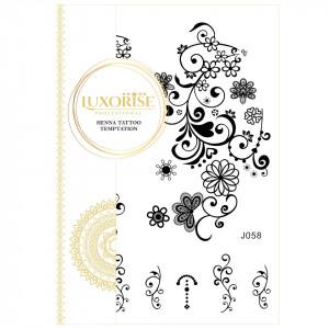 Tatuaj Temporar LUXORISE Henna Temptation Gold Edition J058