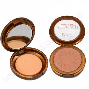 Trusa Bronzer Highlight cu buretel si oglinda  #02 - Makeup Revolution