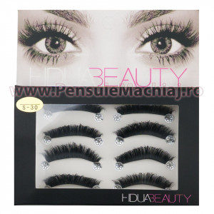 Gene False Profesionale Hand Made 4 Seturi, Queen's Eyes S-30