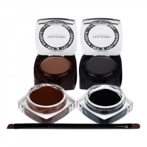 Kit sprancene 2 in 1 Gel, pudra, pensula aplicare dubla Eyebrow Hero