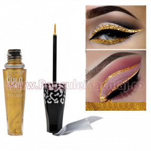 Eyeliner Lichid Rezistent la Transfer Gold Touch 8 ml - 07