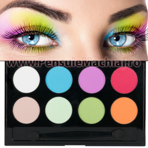 Fard de Pleoape 8 culori mate #01 Eyeshadow Meis - Crazy Colors