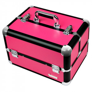 Geanta Produse Cosmetice din Aluminiu Fraulein38, Hot Pink