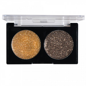 Glitter Ochi Pulbere Gold & Caramel
