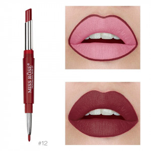 Ruj mat 2 in 1 Miss Rose Dark Red #12