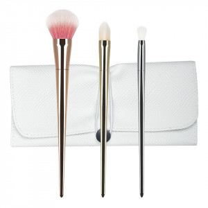 Set 3 pensule machiaj din par natural Perfect Gift Collection + Borseta Cadou