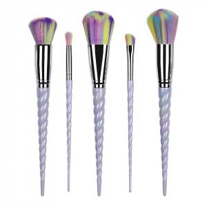 Set 5 pensule machiaj Unicorn Wild Blue Limited Edition