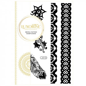 Tatuaj Temporar LUXORISE Henna Temptation Strong Feathers J010