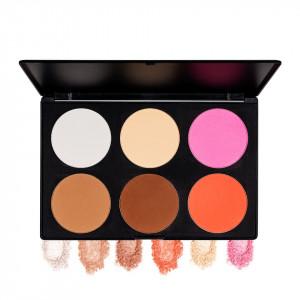 Trusa Blush & Pudra fata 6 culori Fraulein38 Natural Beauty + CADOU Aplicator pudra mare