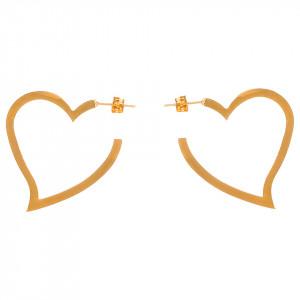 Cercei Inox Fancy Hearts