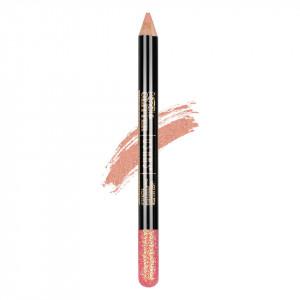 Creion Colorat Contur Ochi cu Sclipici, Ushas Glittery Pink #03