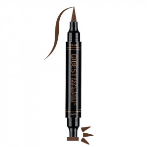 Eyeliner Colorat tip Carioca cu Stampila Ochi, Qibest Mirage Brown #02