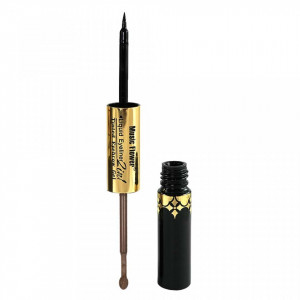 Eyeliner Lichid 2 in 1 cu gel de sprancene Music Flower #02