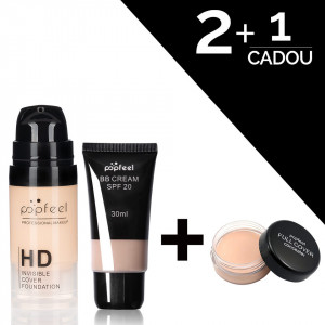 Fond de Ten HD Invisible Cover & BB Cream SPF 20 + CADOU Anticearcan