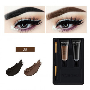 Kit sprancene 2 geluri + pensula aplicare #02 PerfectBrow Kiss Beauty