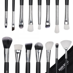 Set 15 pensule machiaj Fabulous Youth, Black Silver + Borseta Cadou
