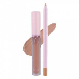 Set Ruj Lichid Mat + Creion de Buze Kimberly