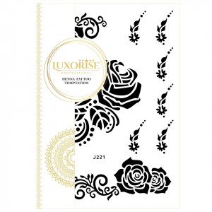 Tatuaj Temporar LUXORISE Henna Temptation A Rose Tatto J221