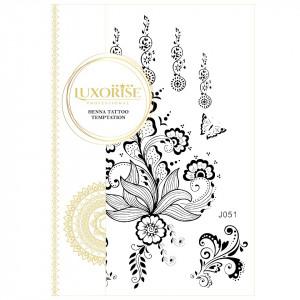 Tatuaj Temporar LUXORISE Henna Temptation Flying Flowers J051