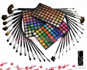 Trusa Farduri 180 culori Stardust in Glam + 32 pensule machiaj Fraulein38 Studio Black