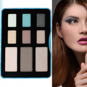 Trusa Farduri 9 culori Eyeshadow USHAS Blue Eyes #02