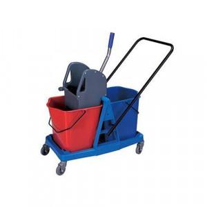 Kolica za čišćenje podova sa plastičnim ramom i posudom za ceđenje - 23L x 2