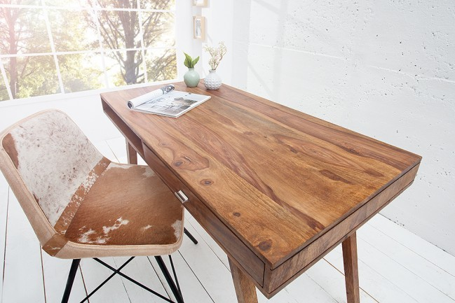 design bureau retro 120 cm sheesham. Black Bedroom Furniture Sets. Home Design Ideas