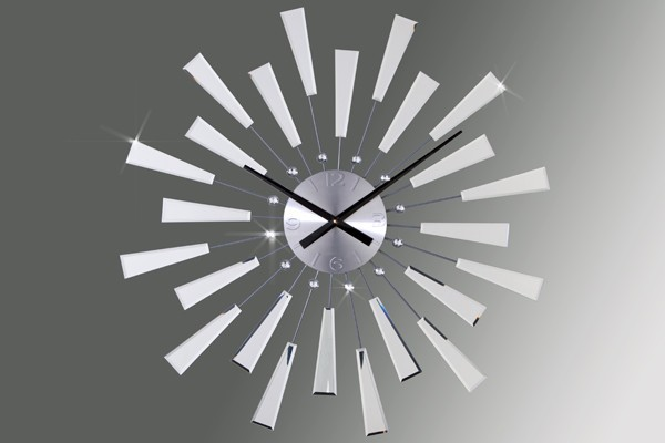 Wandklok model reflections for Horloge murale contemporaine design