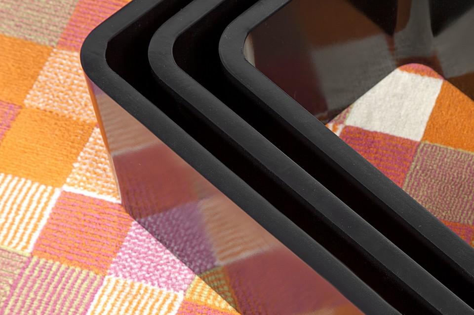 Wandplank Retro Cubes.Wandplank Model Club Cube 3 Set Zwart L 6971