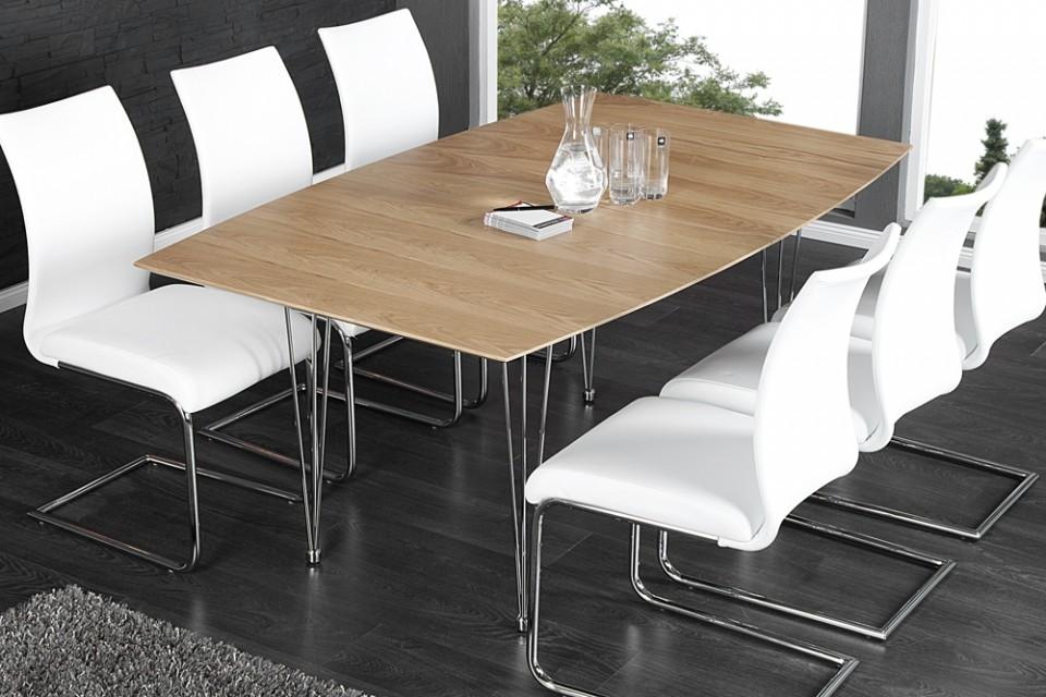 Eettafel model continental eiken uitschuifbaar 20307 - Moderne keukentafel ...
