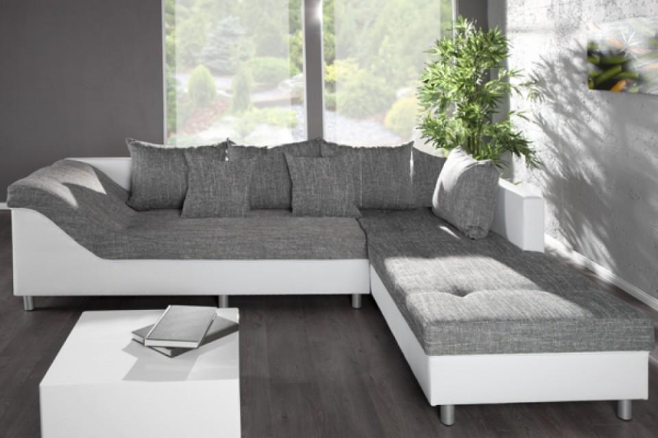 loungebank model trendy wit grijs. Black Bedroom Furniture Sets. Home Design Ideas
