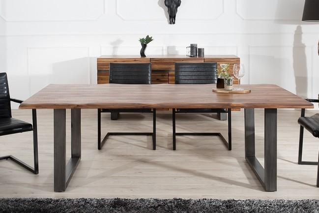 massieve acacia eiken houten tafel genesis 160cm