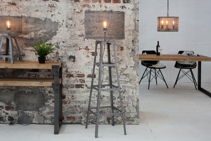 Moderne staande lamp loft cm ijzergrijs industrieel ontwerp