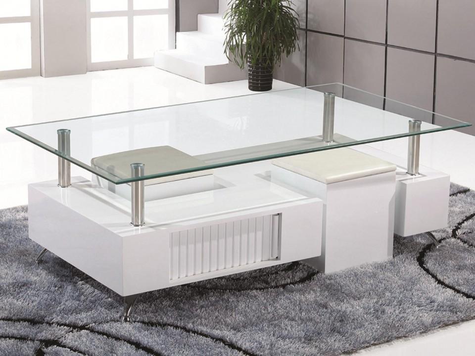 Salon Tafel Wit : Salontafel model shawn wit