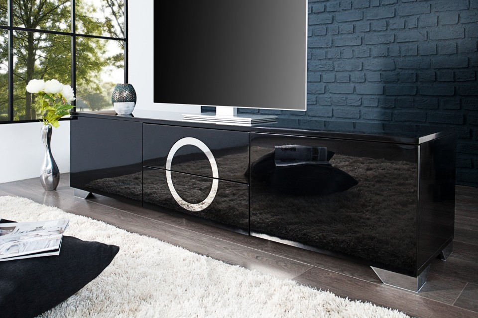 zwarte tv meubels
